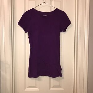 Express Short Sleeve Purple Tee Shirt S